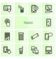 touch icons vector image vector image