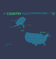 united states america alaska hawaii vector image