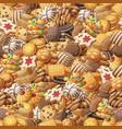 various cookies seamless pattern vector image vector image
