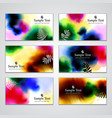 Visiting cards vector image vector image