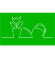watering can and fl vector image vector image
