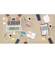 Business meeting and team work vector image
