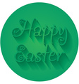 Happy Easter Hand lettering Typographical Greeting vector image