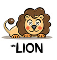 Lion Cartoon - Cute Animal Isolated on White vector image
