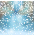 Snowfall in the City vector image