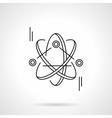 Atom model flat line icon vector image