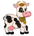 cute cartoon cow isolated on white vector image