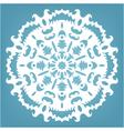 decorative snowflake Christmas lace ornament vector image