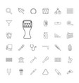 33 instrument icons vector image vector image