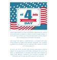 4th july national holiday independence day vector image vector image