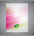 abstract business brochure template colorful vector image vector image