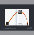 abstract double-page brochure design soft style vector image