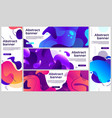 abstract gradient banners gradient fluid flye vector image