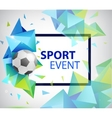 Abstract soccer football poster flyer card vector image vector image