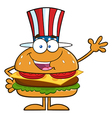 American Hamburger Cartoon vector image vector image