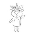 animal reindeer cartoon vector image