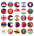 Asiatic Flags Round Buttons vector image