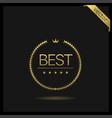 best golden wreath icon vector image vector image