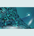 blue cyberspace horizontal template vector image