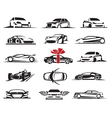 cars icons set vector image vector image