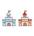 cartoon castles for little princess vector image