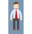 Cartoon smiling businessman vector image