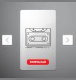 cassette demo record tape record line icon in vector image