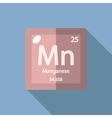 Chemical element Manganese Flat vector image vector image