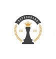 Chess Design Element in Vintage Style vector image vector image