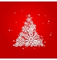 Christmas and New Years red background with Tree vector image vector image