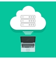 Cloud computing concept laptop connected vector image vector image