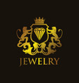 coat of arms jewelry vector image