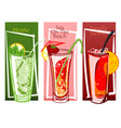 coctails set free hand drawn vector image vector image