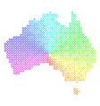 colored australia map vector image vector image