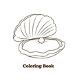 Coloring book oyster fish cartoon vector image vector image