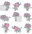 Cute elephant cartoon collection vector image