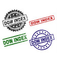 damaged textured dow index seal stamps vector image