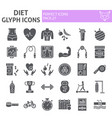 diet glyph icon set sport symbols collection vector image