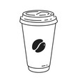 disposable paper coffee cup vector image