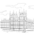 drawing tower in london uk vector image vector image