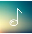 Eight note thin line icon vector image vector image