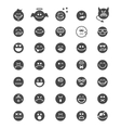 emotion face icons vector image