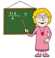 Female maths teacher vector image vector image