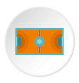 futsal or indoor soccer field icon circle vector image