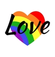Gay LGBT rainbow love greeting card vector image vector image