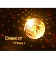 Gold disco ball vector image