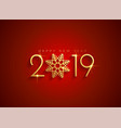 golden 2019 happy new year background vector image vector image