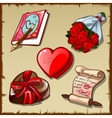 Great set for Valentines day girl accessories vector image vector image