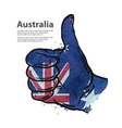 hand gesture thumb up flag of Australia vector image vector image