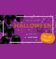 happy halloween banner template with balloons vector image vector image